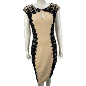 Jax Body Con Sheath Midi Dress Sexy Cocktail Lace